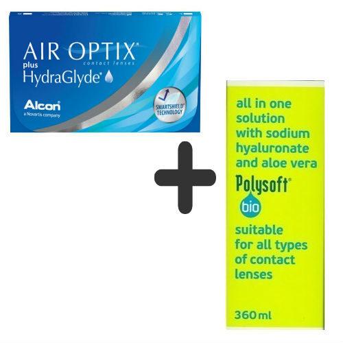 Air Optix 3pack + Polysoft 360ml