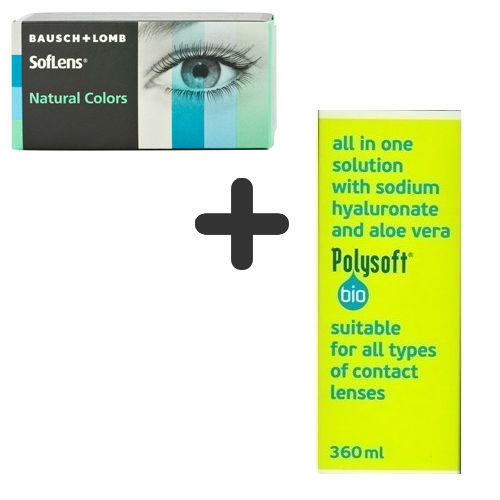 Bausch & Lomb SofLens Natural Colors + Polysoft 360ml