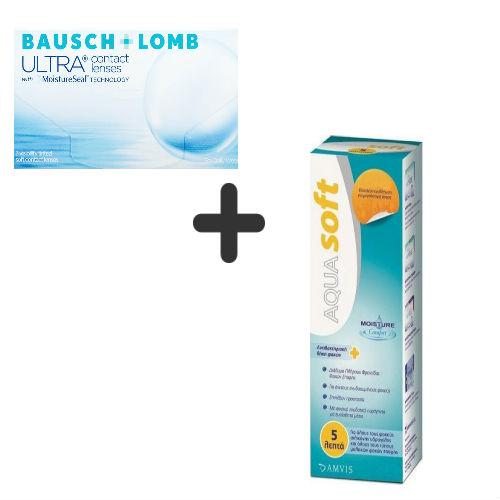Bausch & Lomb Ultra 3pack + Aquasoft 380ml